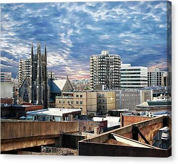 Stamford Cityscape Canvas Print by Anthony Dezenzio