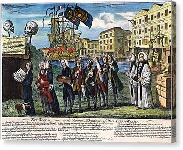 Stamp Act: Repeal, 1766 Canvas Print by Granger