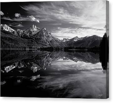 Stanley Lake Canvas Print by Leland D Howard