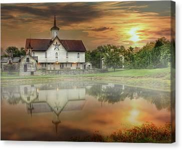 Star Barn Sunrise Canvas Print