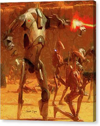 Fight Canvas Print - Star Wars B2 Battle Droid - Free Style by Leonardo Digenio