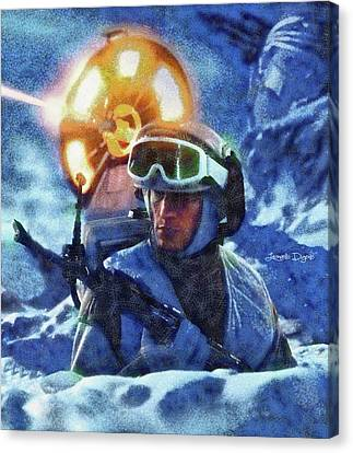 Star Wars Battle Of Hoth - Wax Over Oil Canvas Canvas Print
