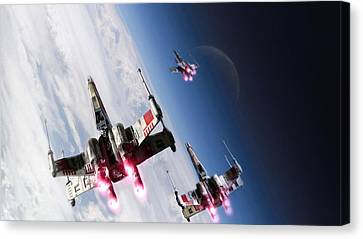 Star Wars Xwings                    Canvas Print by F S