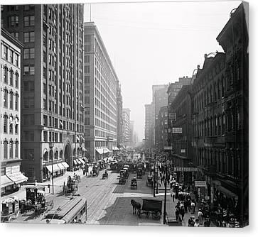 State Street Chicago 1900 Canvas Print