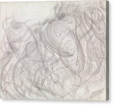 Boccioni Canvas Print - States Of Mind - The Farewells by Umberto Boccioni
