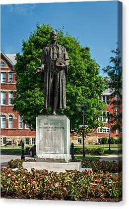 Statue Of Chief Justice John Marshall Canvas Print by Mountain Dreams
