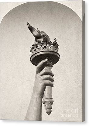 Statue Of Liberty, 1876 Canvas Print by Granger