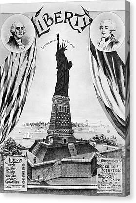 Statue Of Liberty, 1885 Canvas Print