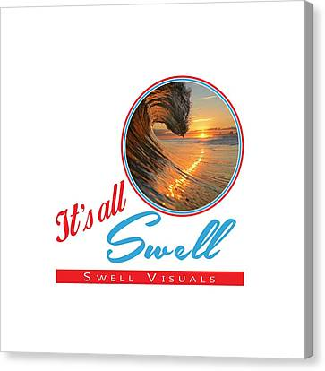 Island Stays Canvas Print - Stay Swell Design  by Russ LaScala