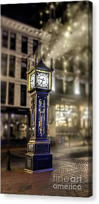 Canvas Print featuring the photograph Steam Clock by Jim  Hatch