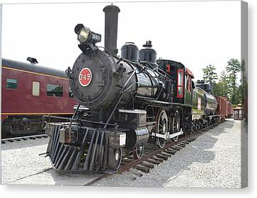 Steam Engline Number 349 Canvas Print