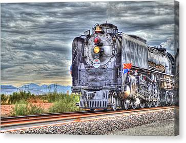 Steam Train No 844 Canvas Print by Donna Greene