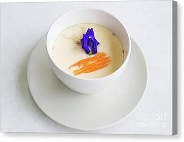 Canvas Print featuring the photograph Steamed Egg by Atiketta Sangasaeng