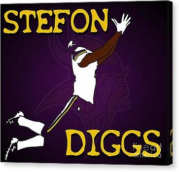 Stefon Diggs Canvas Print by Kyle West