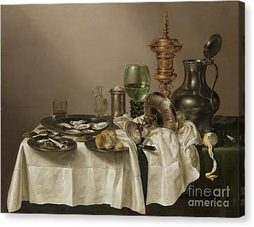 Still Life With A Gilt Cup Canvas Print by R Muirhead Art