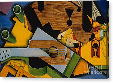 Still Life With A Guitar Canvas Print by Juan Gris