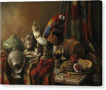 Still-life With A Lobster Canvas Print by Tigran Ghulyan