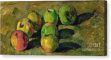 Cezanne Canvas Print - Still Life With Apples by Paul Cezanne