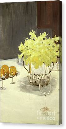 Still Life With Daffodils Canvas Print