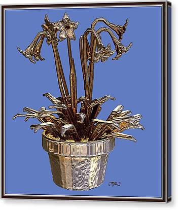 Still Life With Flowers 1 Canvas Print by Pemaro