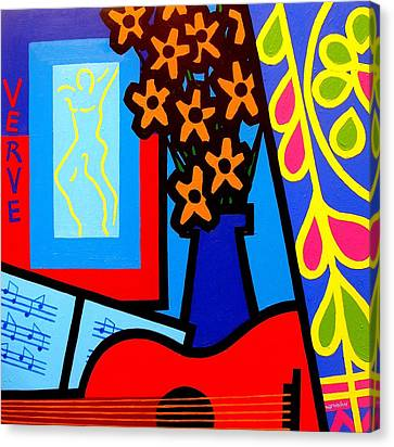 Still Life With Henri Matisse's Verve Canvas Print by John  Nolan