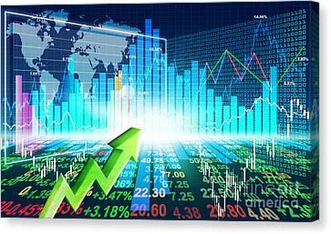 Stock Market Concept Canvas Print