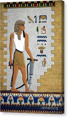 Stone Cutter Canvas Print by Richard Deurer
