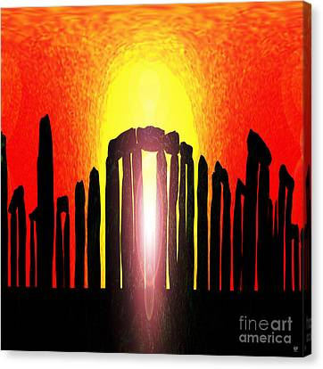 Stonehenge Solstice Canvas Print by Neil Finnemore