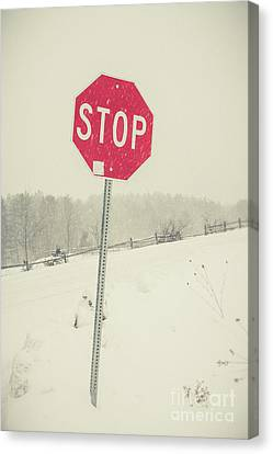 Stop Canvas Print by Edward Fielding