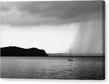 Canvas Print - Storm At Hook Mountain Piermont Ny by DazzleMe Photography