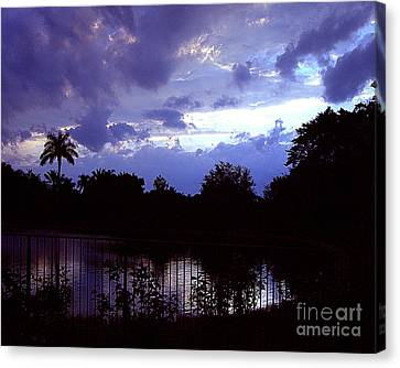 Canvas Print featuring the photograph Storm Clouds Gather by Merton Allen