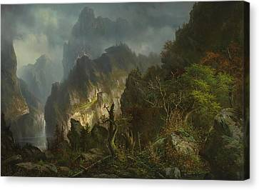 Storm In The Mountains Canvas Print