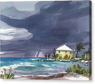 Storm Over Key West Canvas Print by Donald Maier