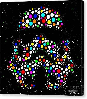 Star Wars Stormtrooper Canvas Print by Saundra Myles