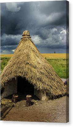 Straw Huts Canvas Print by Martin Newman