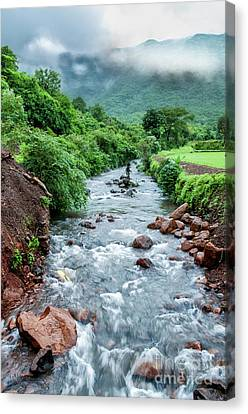 Canvas Print featuring the photograph Stream by Charuhas Images