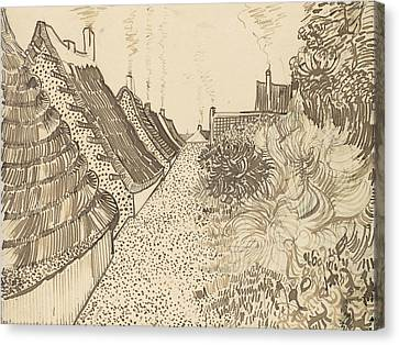 Street In Saintes-maries-de-la-mer Canvas Print by Vincent van Gogh