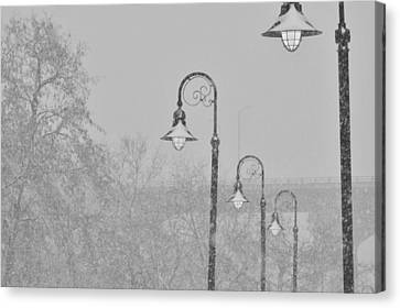 Street Lamps  Canvas Print by Marc Meadows