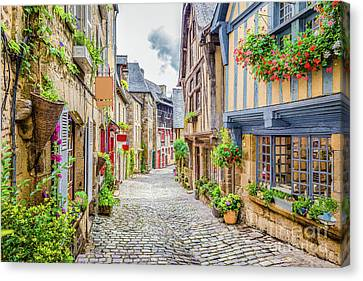 Streets Of Dinan Canvas Print by JR Photography