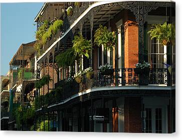 Canvas Print featuring the photograph Streets Of New Orleans by Lori Mellen-Pagliaro