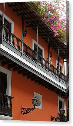 Streets Of Old San Juan Canvas Print by Stephen Anderson