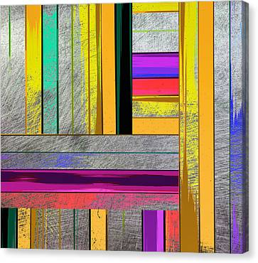 Non-objective Art Canvas Print - Stripes - Abstract Art by Ann Powell