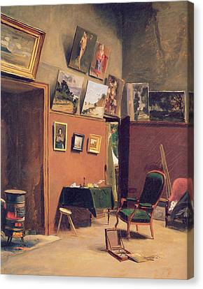 Studio In The Rue De Furstenberg Canvas Print by Frederic Bazille