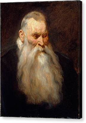 Old Man With Beard Canvas Print - Study Head Of An Old Man With A White Beard by MotionAge Designs