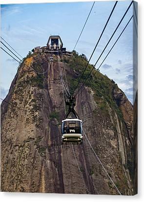 Sugarloaf Mountain Cableway - Rio De Janeiro - Brazil Canvas Print by Jon Berghoff