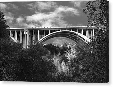 Suicide Bridge Bw Canvas Print