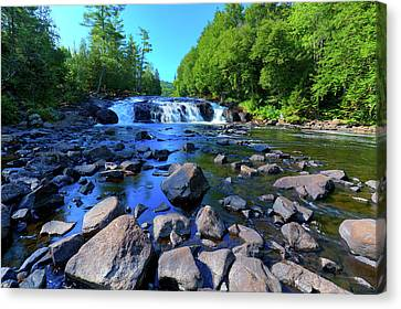 Summer At Buttermilk Falls Canvas Print by David Patterson