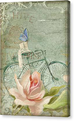 Summer At Cape May - Bicycle Canvas Print by Audrey Jeanne Roberts