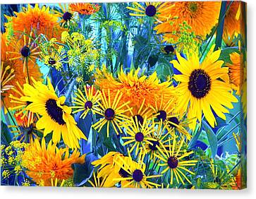 Canvas Print featuring the photograph Summer Bouquet by Byron Varvarigos