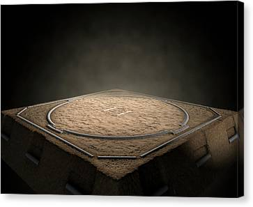Sumo Ring Empty Canvas Print